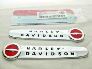 Harley-Davidson-Tank-Embleme-Tankembleme-Tankschilder-mit-Adapter-Kit-61769-47T