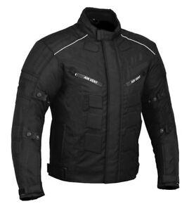 Motorrad-Jacke-Cordura-Motorradjacke-wasserdicht-XS-S-M-L-XL-XXL-6XL-SCHWARZ