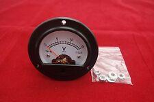 Dc 0 15v Round Analog Voltmeter Analogue Voltage Panel Meter Dia 664mm Dh52
