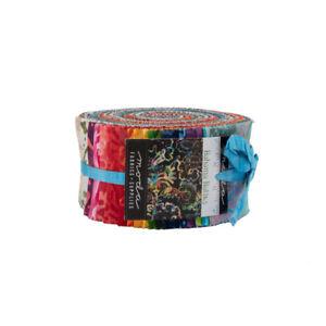 Moda-jelly-roll-Bahama-Batiks-40-strips-2-034-x-44-034-100-cotton-4352JR