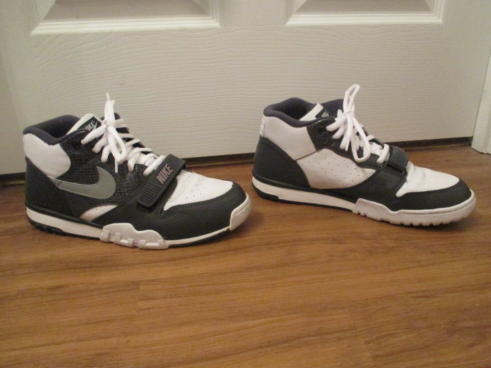 Classic 2003 Used Worn 1 Size 12 Nike Trainer 1 Worn Python Shoes White Gray Anthracite c48828
