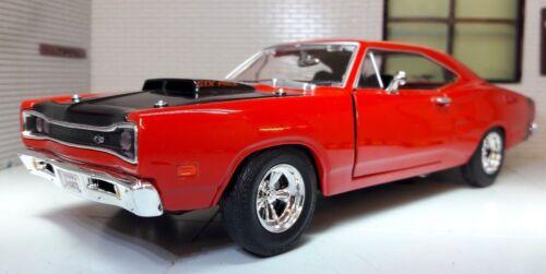 LGB 1:24 Maßstab Rot Dodge Coronet  1969 Motormax Druckguss Modell Auto 73315 Spielzeugautos