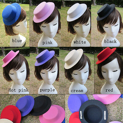 "6.7"" Mini Tilt Top Hat Millinery Fascinator Base Craft  Supplies A051"