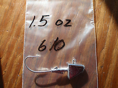 20 1.5oz Ultra Minnow Jigs on Eagle Claw 635 Saltwater 5//0 6//0 or 7//0 Hooks