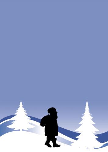 Motivpapier Briefpapier Weihnachtsmann Winterlandschaft Weihnachten 20 Blatt A4