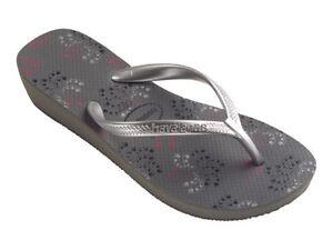 b4a12156b4 Havaianas Women`s Flip Flops High Light II Grey Sexy Wedge Sandal ...