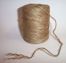 440' Feet JUTE TWINE 100% NATURAL 2-Ply Twisted ROPE Bird Parrot Toy Craft Parts