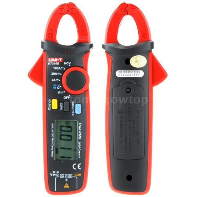 UNI-T UT210E Mini AC/DC Current Clamp Multimeter Tester Capacitance 2000 Counts