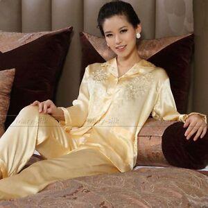 NWT  Women Ladies 100% Silk Pajamas Pajama PJS Pyjamas Set S,M,L 6,8,10,12,14