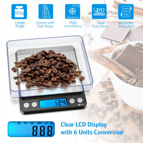 0.01g-500gram/_Electronic Digital Balance Kitchen Diet Food  Jewelry Weight Scale