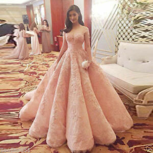 Luxury-Pink-Wedding-dress-Bridal-gown-Quinceanera-Pageant-dress-Prom-dresses