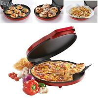 Baking Nonstick Pizza Maker Easy Oven Kitchen Fast Bake Cookies Crispy Red