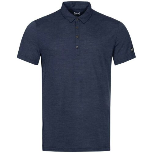 Super.Natural Everyday Polo Merino Funktiosshirt blau