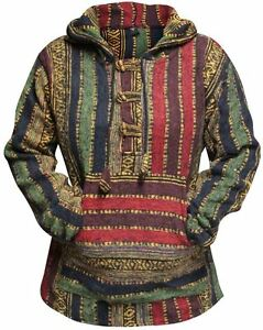 Sweat-a-Capuche-Pull-over-Femmes-Hippie-Festival-multicolores-goth-Hippy-BAJA-Sweat-a-capuche-veste