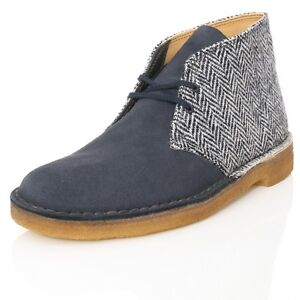 Clarks-Original-Botas-Safari-azul-marino-Crema-Combi-Harris-Tweed-UK-7-F