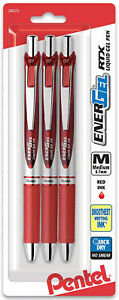 Pentel-Energel-RTX-Liquid-Gel-Pens-Retractable-Red-Ink-Medium-Tip-0-7mm