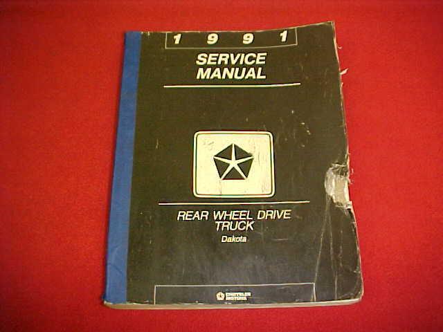 1991 Dodge Dakota Original Service Shop Repair Manual   Wiring Diagrams 91 Oem