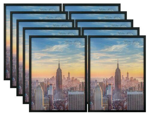 Frame Amo Black Wood Picture Frames or Poster Frames Smooth Wrap 1 inch Wide