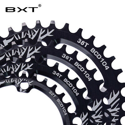 New MTB Bike Crank Chainwheel Bicycle Oval Chainring Single Speed BCD104 32T-38T