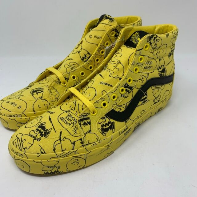 VANS Mens Sk8 Hi Reissue Skate Shoes Yellow Maize Peanuts Charlie Brown 7.5 New