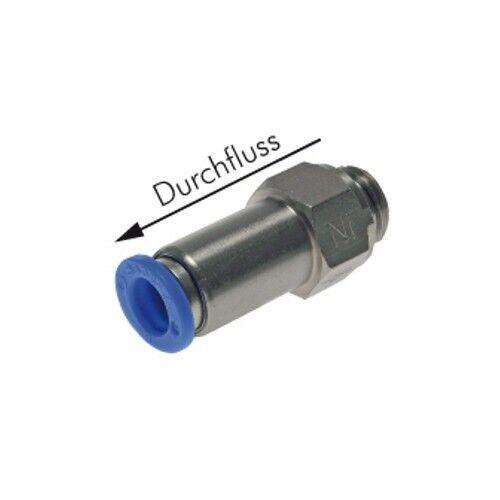 Rückschlagventil mit Außengewinde und Steckanschluss Pneumatik Steckverbindung