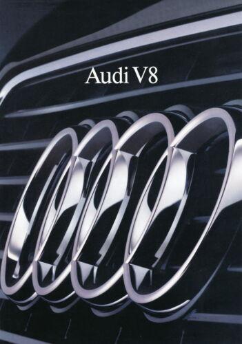 Audi V8 Prospekt 9//88 1988 DINA4 Katalog Autoprospekt brosjyre broschyr catalog