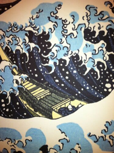 The Great Wave 22x30 Japanese Woodblock Print Hokusai Asian Art Japan Warrior