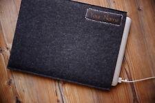 """Apple MacBook Air 11"""" Filz Hülle Tasche Case Hülle Tasche - mit ihrem LEDER-NAME"""