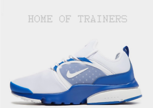 Nike-Air-Presto-Fly-World-White-Blue-Men-039-s-Trainers-All-Sizes-Limited-Stock