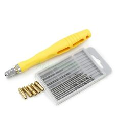 DIY Walnut PCB Perforated Micro Drilling Hand Tool w/5 Collet + 10pcs Drill Bit