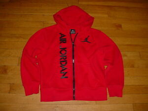 a71d19696df32c Vintage Nike Air Jordan BOYS Full Zip Hoodie Sweatshirt Jacket Red ...