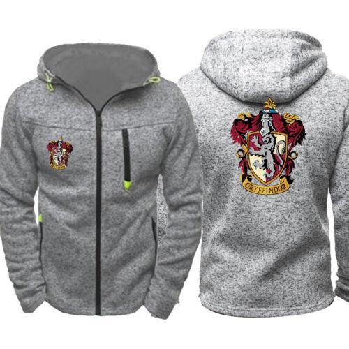 New HOGWARTS Harry Potter Cosplay Hoodies Men Sweatshirt Sweater Zip Jacket Coat