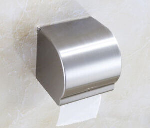 Stainless-Steel-304-Toilet-Paper-Holder-Roll-Tissue-Box-Wall-Mounted-Holder