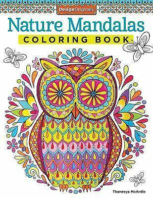 Nature Mandalas Adult Coloring Book Designs Stress Relief Doodle Creative Design