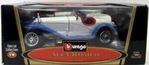 Burago Echelle 1/18 Alfa Romeo 2300 Spider 1932 Bleu / Blanc