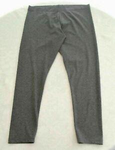 Dunkelgraue-Leggings-L-XL-44-46-48-50-Baumwolle-Elastan-Single-Jersey-blickdicht
