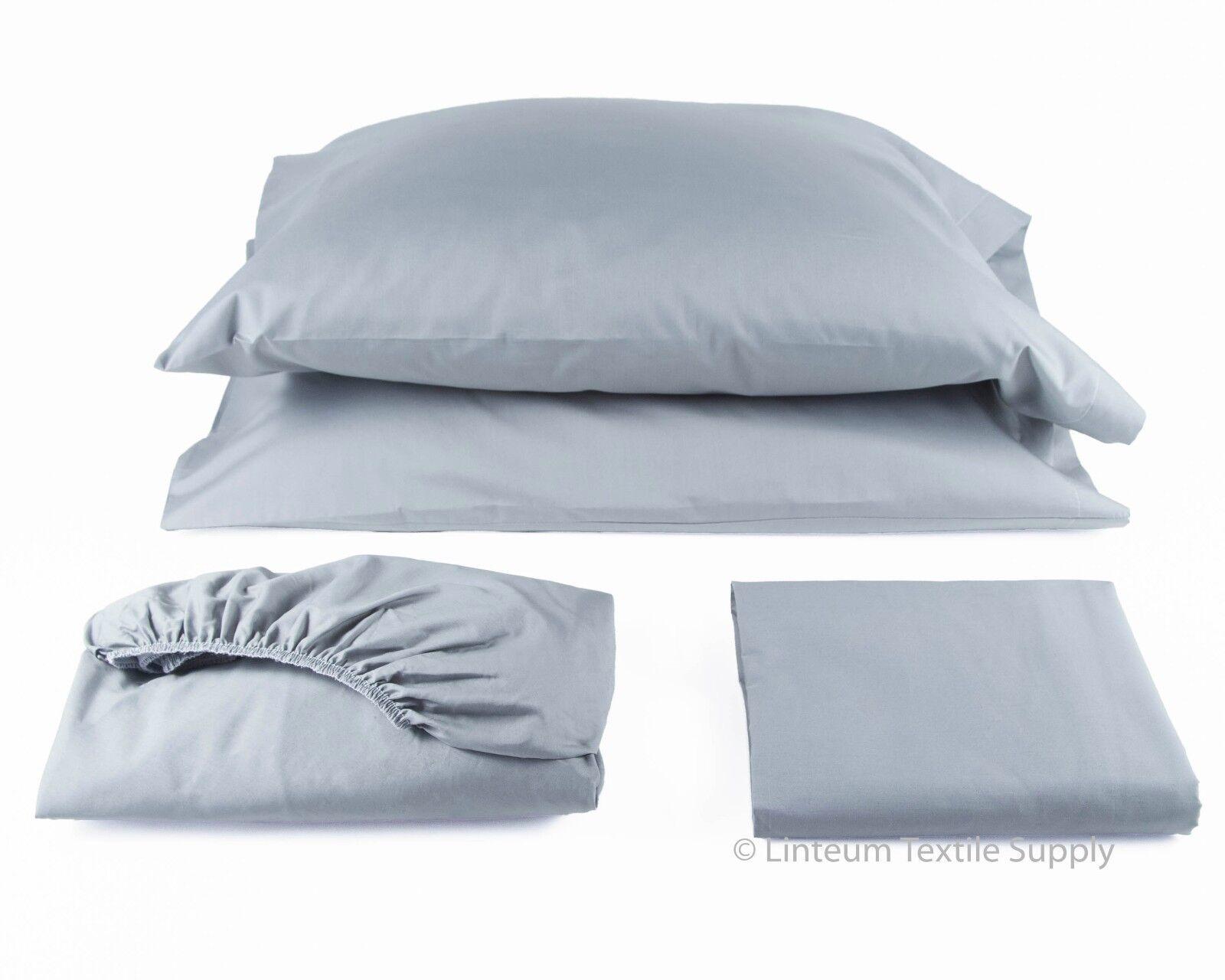 linteum 100 cotton 4 piece bed sheet set 250 thread count wholesale lot queen ebay. Black Bedroom Furniture Sets. Home Design Ideas