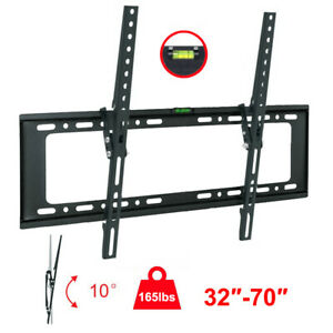 LCD-LED-Plasma-Flat-Tilt-10-TV-Wall-Mount-Bracket-32-42-50-55-60-65-70-034-Screen