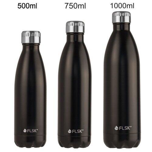 Flsk bouteille thermos 0,5 L Noir Acier Acier Acier Inoxydable 18h chaud froid 24h eeae4f