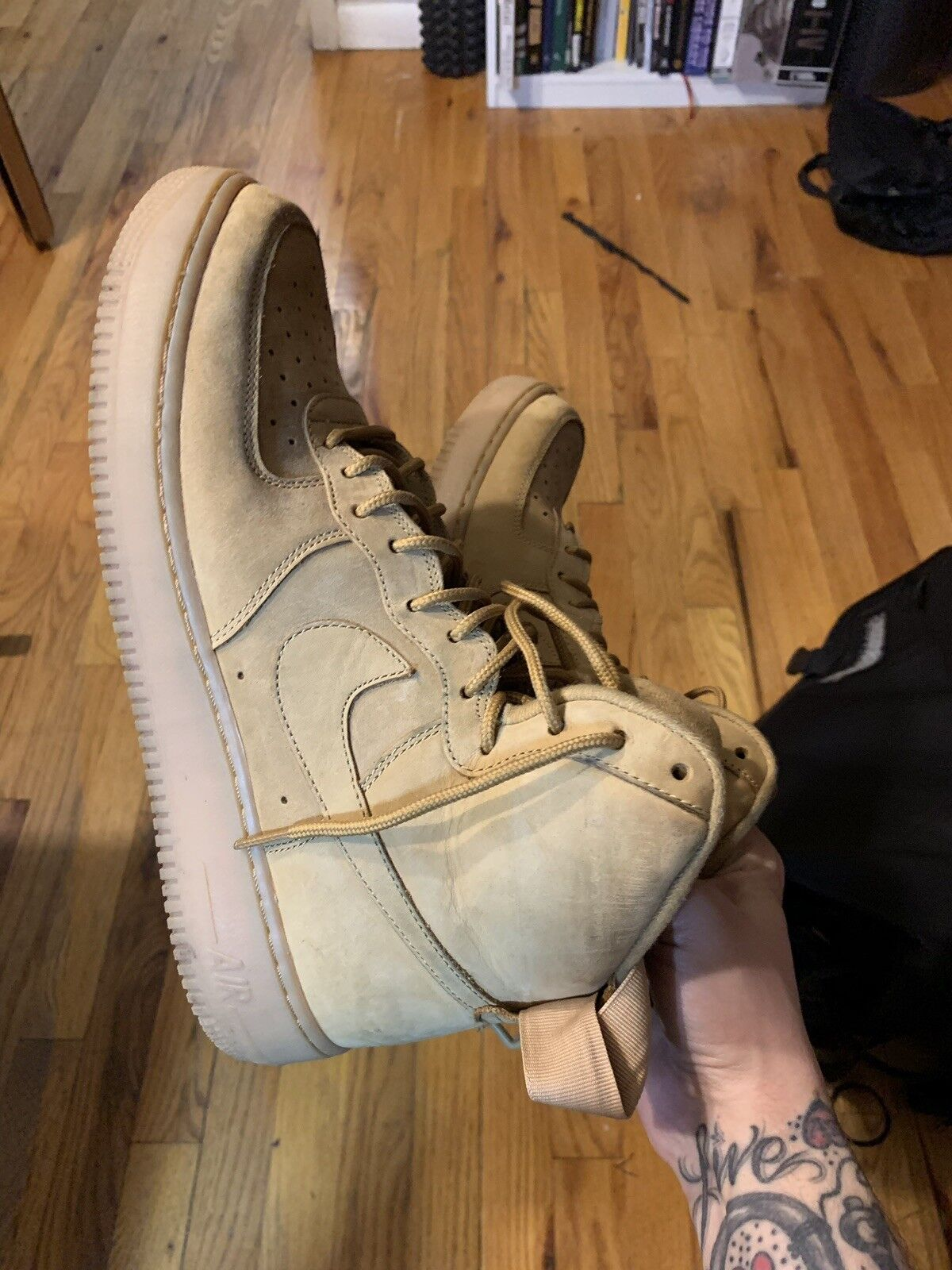 Nike Air Force Force Force 1 Wheat Flax Size 11 Suede 315696