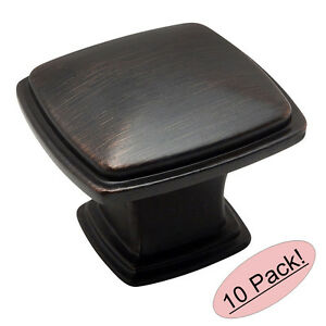 *10 Pack* Cosmas Cabinet Hardware Oil Rubbed Bronze T Knobs #181ORB