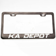Spy Agency Font Personalized Custom Laser Engraved Gray License Plate Frame Audi