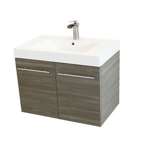 Windbay 36 Quot Wall Mount Powder Bathroom Vanity Sink Set