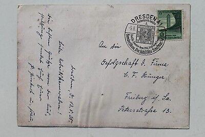 Deutschland 29730 Ak Dresden Sachsen Am Werk 9.8.1938 Briefmarken Ausstellung Sonderstempel Dauerhaft Im Einsatz Heimatgeschichte