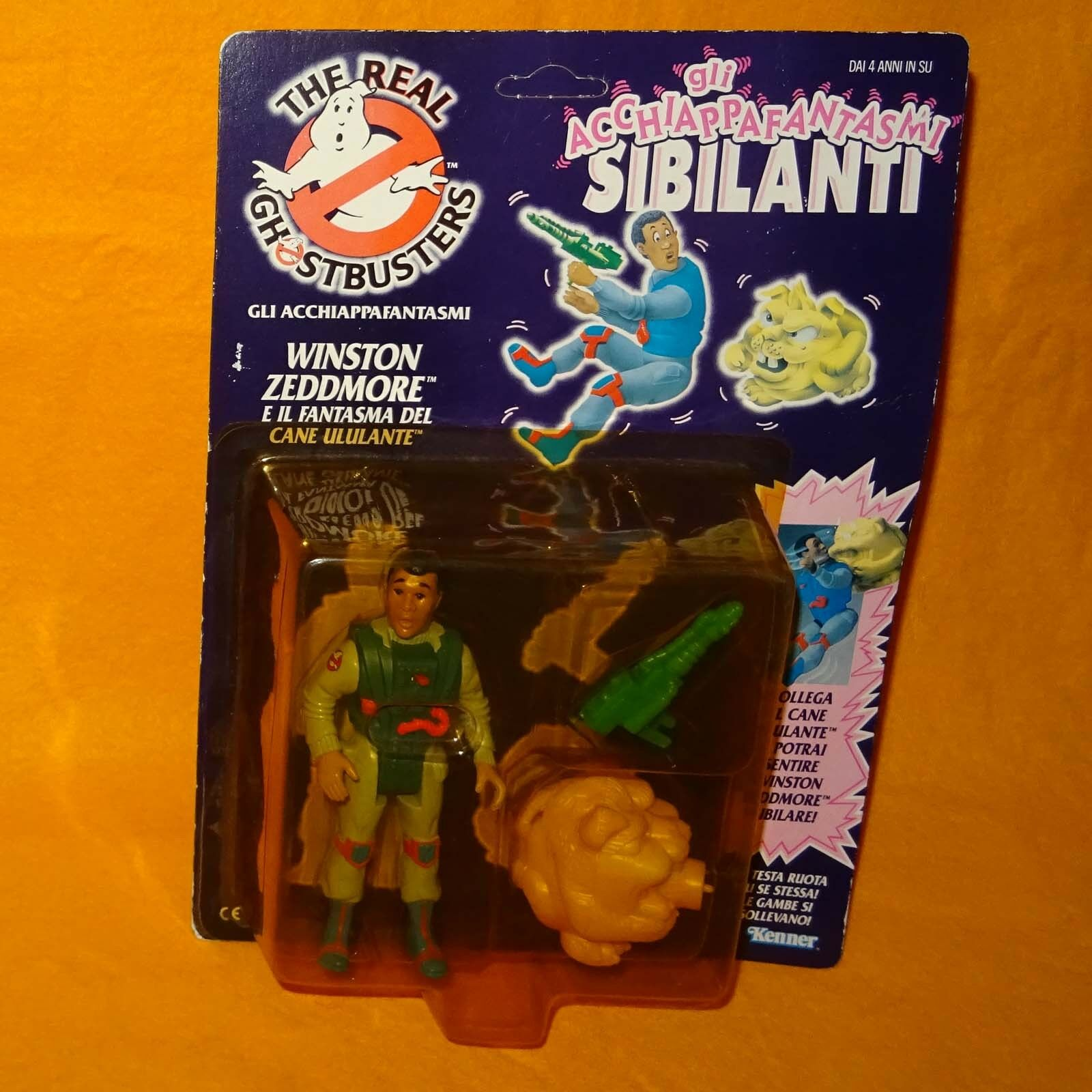 VINTAGE 80s THE REAL GHOSTBUSTERS SCREAMING HEROES WINSTON ZEDDMORE ZEDDMORE ZEDDMORE FIGURE MOC  | Stil