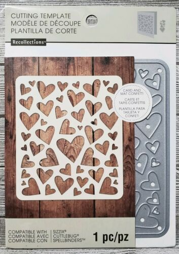 Recollections Hearts Card and Mat Confetti Cutting Dies Template Love Valentine
