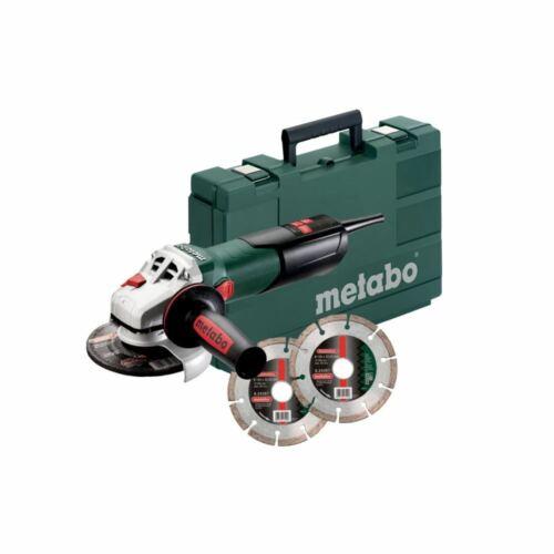 Metabo Winkelschleifer W 9-125 Quick Set 2 Diamantrennscheiben im Koffer