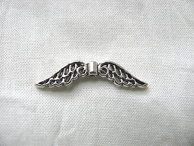 10 filigrane Flügel, Engelsflügel, Metallperle, Perlen