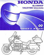 2000 HONDA GL1500CF VALKYRIE INTERSTATE MOTORCYCLE OWNERS MANUAL -GL 1500 CF-F6C