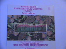 PYATNISKY RUSSIAN FOLK CHORUS ART DIRECTOR VLENTIN LEVASHOV MELODIYA NM LP STERE